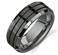 King Will 8mm Tungsten Carbide Mens P…