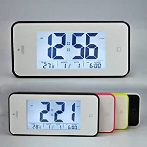 Automatic Light-sensitive Large LCD Display Screen Alarm Clock with Snooze Function
