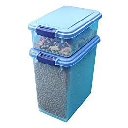 Iris Airtight 2-pc. Pet Food Container Set