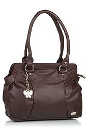 Butterflies Women's Handbag (Brown) (BNS 0217 BN)