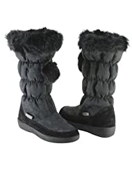 Coach Women's Theona Signature Rabbit Fur Trimmed Boots