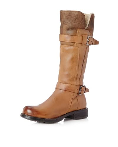 Manas Women's Gilda Two Buckles Tall Boot