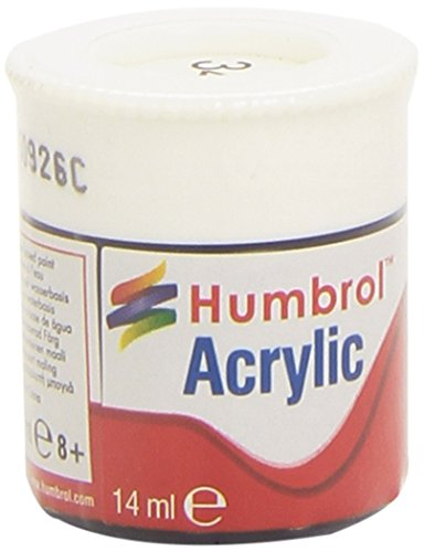 Humbrol Acrylic Paint, White Matt
