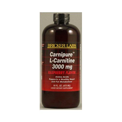 Bricker Labs Carnipure L-Carnitine Raspberry -- 3000 Mg - 16 Fl Oz