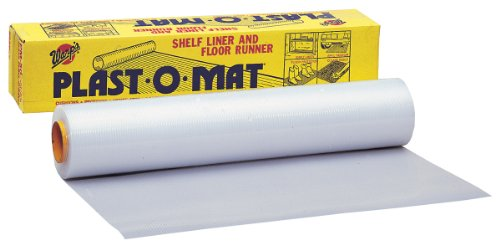 Warp Brothers PM-50-W Opaque White Plast-O-Mat Ribbed Flooring Runner Roll, 30-Inch by 50-Foot