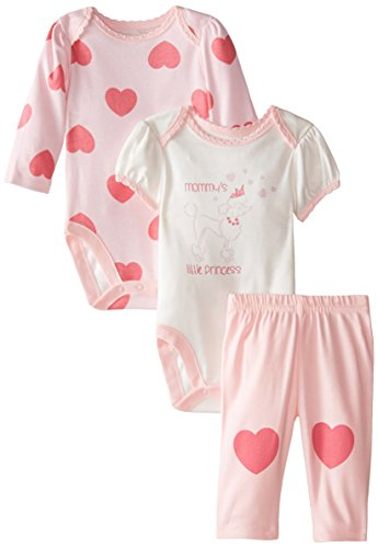 The Children's Place Baby-Girls Infant Poodle 3 Piece Set, Pink Blossom, 3-6 Months