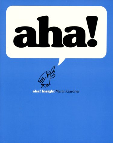The front cover of Martin Gardner's aha! Insight