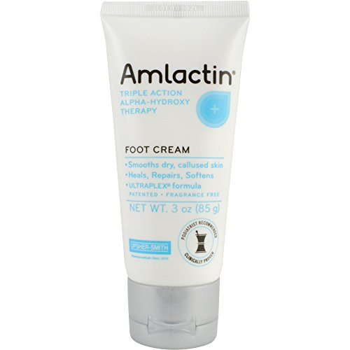 AmLactin Alpha-Hydroxy Therapy Foot Cream to Heal, Repair, Soften Dry, Callused Skin on Feet, Heels Podiatrist Approved 3 Ounce