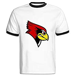 LEE75S Illinois State Redbirds Colorblocking Short Sleeve T Shirt For Man