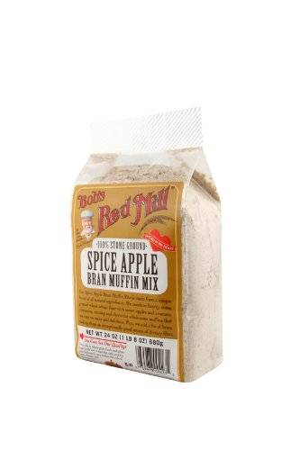 Bob's Red Mill Muffin Mix Spice Apple Bran, 24-Ounce (Pack of 4)