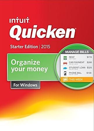 Quicken Starter Edition Personal Finance & Budgeting Software 2015