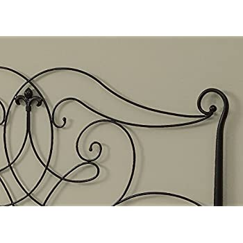"Monarch Specialties I 2611Q, Headboard or Footboard, Queen or Full, Satin Black, 62"" L"