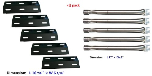 Ducane 5 Burner Gas Barbecue Grill 4100 Replacement Burners & Heat Plates (Bbq Parts# 99341, 13041)