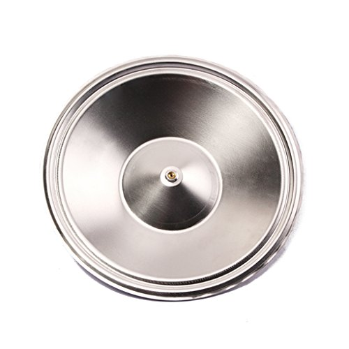 Guitar Resonator Cover, JinLi Aluminum Repair Resonator Guitar Cone Silver 263mm lip For Guitar Maker