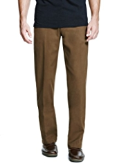 Pure Cotton Active Waistband Straight Leg Chinos