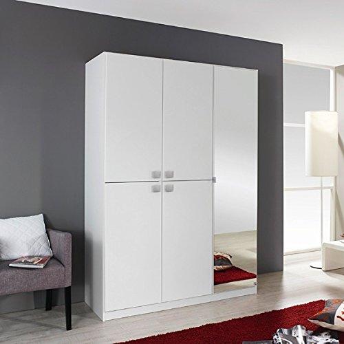 Kleiderschrank weiß 5 Türen B 136 cm Schrank Drehtürenschrank Spiegelschrank Wäscheschrank Kinderzimmer Jugendzimmer kaufen