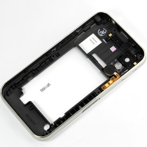 Original Genuine Oem White Housing Middle Chassis+Back Battery Door Cover Case Backplate Panel Fascia Plate Frame+Buzzer Loudspeaker Loud Speaker+Flashlight+Camera Len Lens For Samsung Gt-S5830T Galaxy Ace S5830