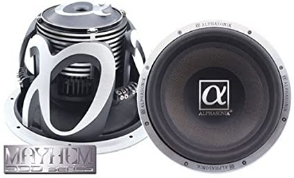 "Alphasonik PSW915, 38cm (15"") Caisson de Basses Série Alpha Mayhem 900, 2500W RMS"