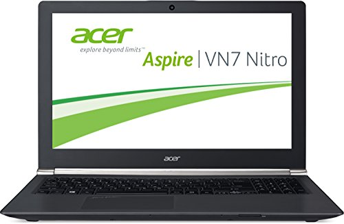 Acer Aspire Black Edition VN7-791G-70TW 43,9 cm (17,3 Zoll Full HD) Notebook (Intel Core i7-4720HQ, 3,6GHz, 16GB RAM, 256GB SSD + 1000GB HDD, Nvidia GeForce GTX 960M, Blu-ray, Win 8.1) schwarz
