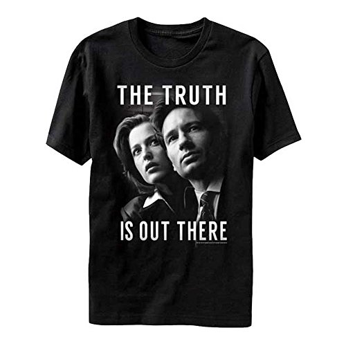 x-files-the-truth-is-out-there-scully-and-mulder-shirt-large-black