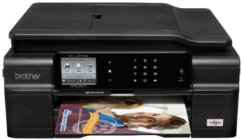 Brother Printer Work Smart MFCJ870DW Wireless Color Inkjet All-In-One Printer with Scanner, Copier and Fax