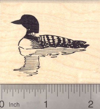 Loon Rubber Stamp, Aquatic Bird