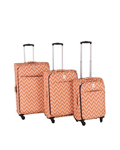 Jenni Chan Aria Madison 3-Piece Luggage Set, Orange