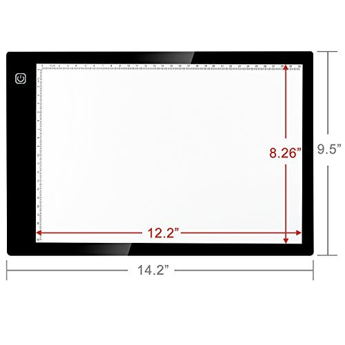 Kohree A4 LED Tracing Light Box Dimmable Tracer Portable Artists Drawing Board USB Power Cable Artcraft Tracing Light Pad for Sketching Animation Designing Stenciling X-ray Viewing