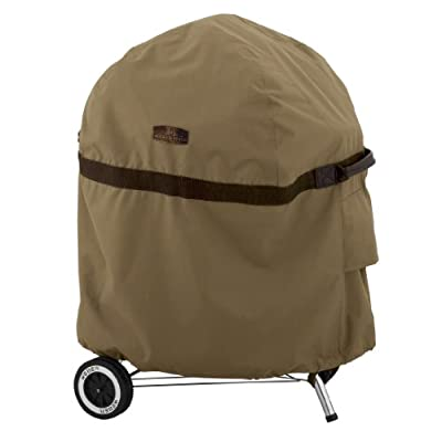 Classic Accessories 55-202-012401-EC Hickory Kettle BBQ Cover, 26.5-Inch, Tan
