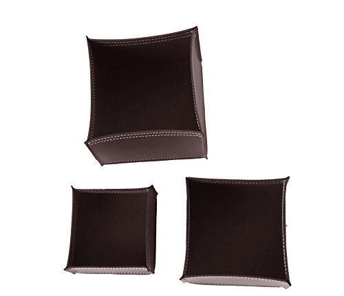 KOME 531: Set svuota tasche in cuoio rigenerato composto da 3 pezzi, colore Testa di moro.