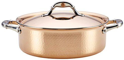 Ruffoni Symphonia Cupra 5-Quart Covered Braiser - Copper