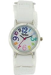 Reflex Kids White Dial Colourful Digits White Velcro Fabric Strap Watch KID-0074