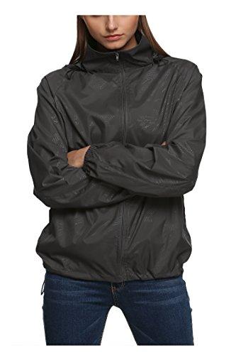 New fashion Waterproof Climbing Running Outdoor Hoodie Coat Sport Cycling Jacket Medium Gray (Running Rain compare prices)