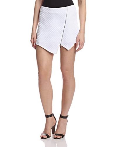 kensie Women's Textured Zip Mini Skort