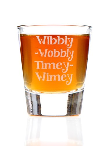 Wibbly Wobbly Timey Wimey: Doctor Who Inspired Shot Glass