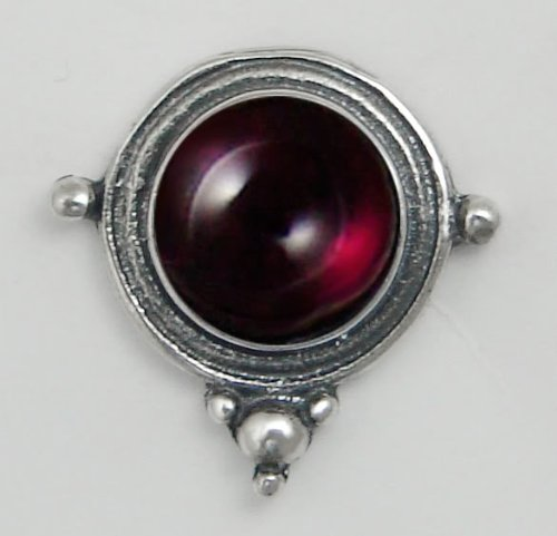 Garnet Sterling Silver Stud Earrings When You Need Just a Little Bit of Color