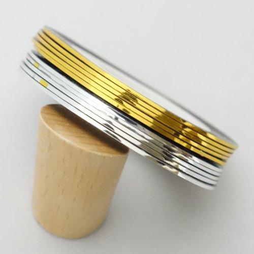 ネイルアート用ラインテープ 金&銀 2色x5個=計10個セット ネイルデザインテープ ネイルアートテープ デコレーション ジェルネイル