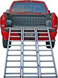 Full Width Aluminum 1250 lb Capacity Tri-Folding ATV Truck Loading Ramp
