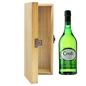 700ml Croft Original Pale Cream Sherry in Hinged Wooden Gift Box