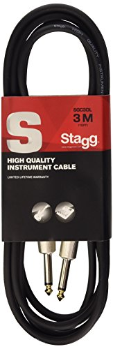 Stagg SGC3DL Cavo Pro-Serie Deluxe per Strumenti Musicali da Jack 6,3 mm a Jack 6,3 mm, 3m