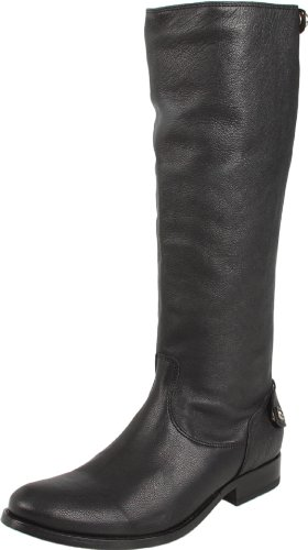 FRYE Women's Melissa Back Zip Knee-High Boot,Black Antique Soft Full Grain,7.5 M US
