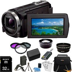 Sony HDR-CX430V HDR-CX430 HDR-CX430V CX430 High Definition Handycam Camcorder with 3.0-Inch LCD (Black) ULTIMATE Bundle with 32GB Card, Spare Battery, External Rapid Charger, Wide Angle Lens, Telephoto Lens, All in 1 Card Reader, Case, Mini Tripod + More!