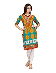 D2Nine Women's Cotton Round Neck Kurti - B0110HSVVG