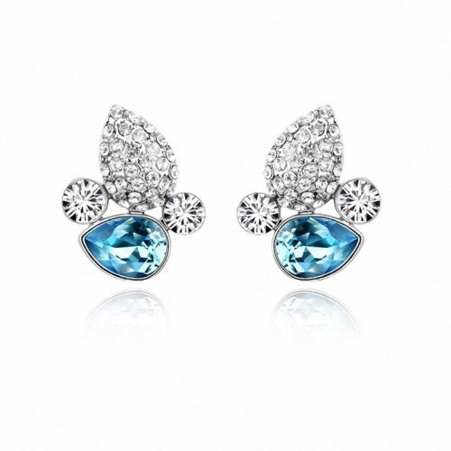 TAOTAOHAS- [ Search Name: For Date ] (1PAIR) Crystallized Swarovski Elements Austria Crystal Stud Earrings, Made of Alloy Plated with 18K True Platinum / White Gold and Czech Rhinestone