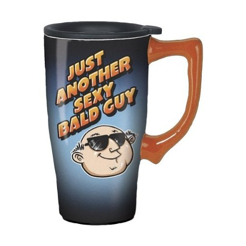 Just Another Sexy Bald Guy Travel Mug: Ceramic Leak-Proof Beverage Container