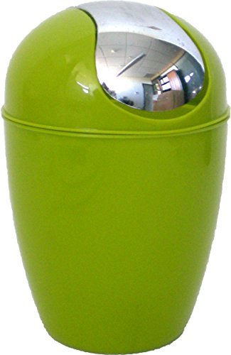 Mini Counter Top Trash Can Color: Lime Green