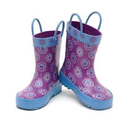 Ufficiale Disney --- Stivali da pioggia bimba Frozen , Elsa Anna- Il Regno di Ghiaccio - Taglia UK 12 , EU 31