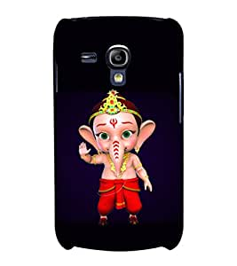 printtech Lord Ganesha Cartoon Back Case Cover for Samsung Galaxy S3 Mini::Samsung Galaxy S3 Mini i8190