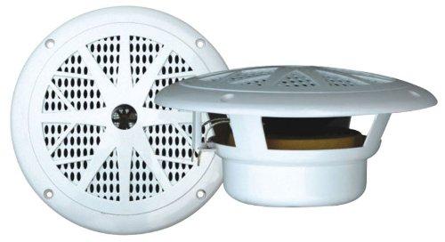 Pyle Plmr61W 120 Watts 6.5-Inch 2 Way White Marine Speakers