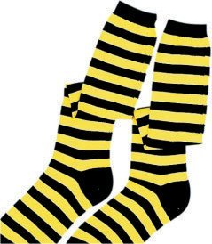 Kids Yellow & Black Bee Knee Socks - 1